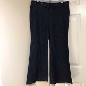 GAP Straight fit flared leg dark wash jean